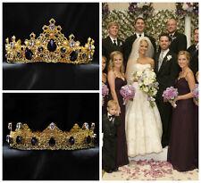 Bridal Purple Crystal Headpiece, Couple Crowns, Wedding Crown, Bride and Groom