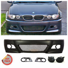 BMW E46 M3 STYLE FRONT BUMPER W/ SMOKE FOG LIGHTS HAM COVERS FOR 1999-2005 SEDAN