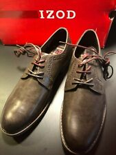 IZOD Men's Brown Lace Up New Work/Dress Oxford Shoes Sizes: 9.5 / 10.5