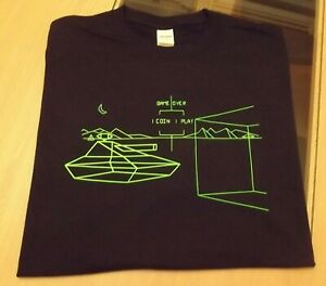 RETRO GAMERS BLACK T SHIRT BATTLE ZONE DESIGN  M L XL XXL BattleZone Atari