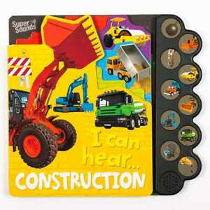 Construction Sound Book, Childrens Interactive Book with 10 Featured Sounds and