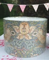 MORRIS STRAWBERRY THIEF SLATE (DUCK EGG) LAMPSHADE MATCHES JOHN LEWIS CURTAINS