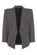V-Neckline Business Checked Coats & Jackets for Women