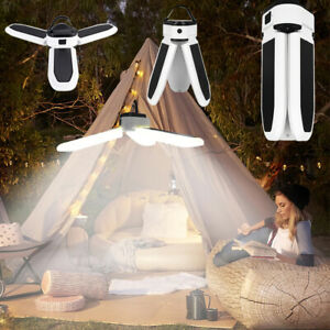 USB Rechargeable Solar Powered LED Bulb Light Portable Outdoor Camping Tent Lamp