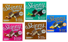 25 Assorted Skinny Whip Bars Strawberry,Toffee,Double Choc,Mint & NEW Orange