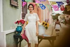 New Monsoon Vincenzina Lace  Dress sz 16 Wedding/Coast/Cruise