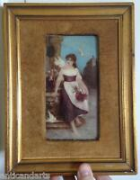 Cadre fixé sous verre signé Emmanuel Van Den Bussche (1837-1908)