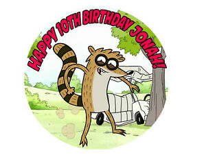 THE REGULAR SHOW rigby Birthday Party Cake Decoration icing sheet Custom