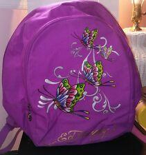 Ed Hardy Misha Butterfly Glitter Backpack - Violet Purple