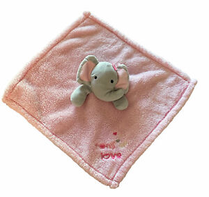 """Baby Gear Elephant Tons of Love Lovey Plush Security Blanket Soother Pink 15"""""""