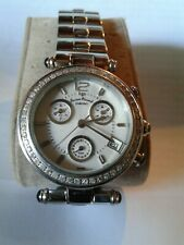 LucienPiccard,ladies watch,w/50diamonds(1point ea)SecondsHand is the Chronograph