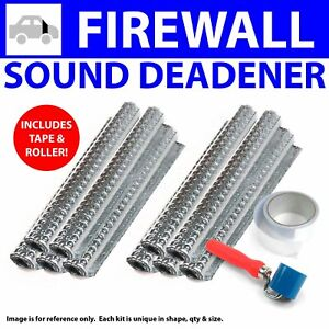 Heat & Sound Deadener IH Scout 1961 - 80 Firewall Kit + Tape, Roller 12114Cm2