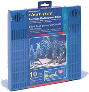 Penn-Plax Premium Under Gravel Filter System for Aquarium, Clear Free Blue