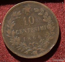 10 CENTESIMI 1866 .VITTORIO EMANUELE II ITALIA MA49
