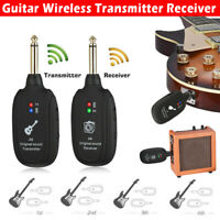 20Hz-20kHz Audio Guitar Wireless System Transmitter Receiver Rechargeable