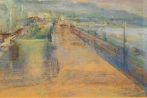 JUDITH GARDNER NEAC RBA original oil painting FOLKESTONE PROMENADE KENT