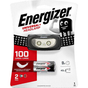 Energizer LED Stirnlampe, Kopflampe Universal+ Headlamp, inkl. 2xAAA Batterien