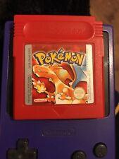 Pokémon Rouge Gameboy Colour Cartouche de jeu POKEMON ORIGINAL UK Edition