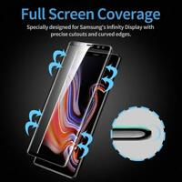 Full Glued adhesive 6D Tempered Glass Protector For Samsung Galaxy Note 9