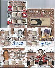 LARRY ROBINSON 19-20 Leaf LUMBER KINGS **GAME USED LUMBER 11/15** CANADIENS SSP