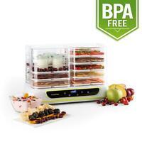 Déshydrateur alimentaire fruits et légumes + yaourtière 2x5 étages 550W blanc