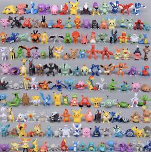 Lots 24pc pokemon Mini Figures USA Seller (2-3cm) + Free 2pc