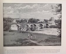 Kelso, Bridge, Scotland, Antique Print c1895, Original