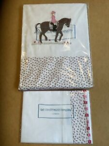 BNWT The little white company 100% cotton Toddler/cot bed girls duvet set