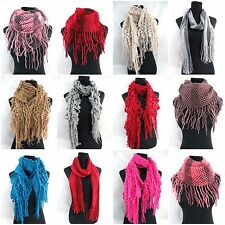 wholesale lot of 12 winter scarf knit fashion women wrap hippie boho