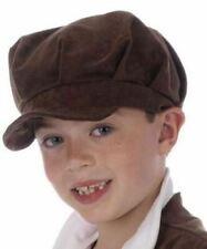 Childs Oliver Urchin Boy Hat Brown Victorian Girl Flat Cap Chimney Sweep