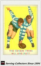 RARE -1963 VFL Scanlens Card #15 The Goggin Twins (Geelong)-Acceptable