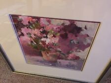Vintage Sky Strickland WaterColor Print  - Matted and Framed !