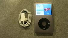 Apple iPod Clásico 160GB 7TH generación más reciente de gris oscuro en condiciones prístinas