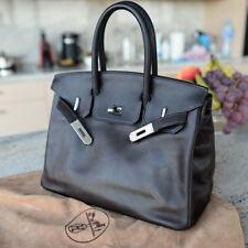 RARE HERMES BIRKIN brown HDW BRUSSE Brushed hardware 30cm 2002 ladies bag purse