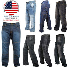Mens Motorcycle Jeans Aramid Protective Lined Armoured Biker Jeans Riding Pants