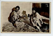 """Loisirs� Street Kids Playing Cards Casablanca Antique Cpa Maroc—Morocco 1930s"