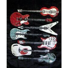 "Brand New Guitars 79"" x 95"" Super Plush Faux Mink Blanket"