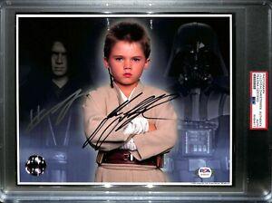 JJAKE LLOYD & HAYDEN CHRISTENSEN Signed STAR WARS 8x10 OPX Photo PSA/DNA SLABBED