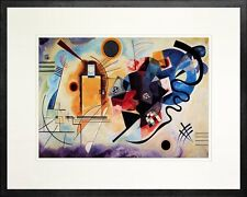 Yellow - Red - Blue by Wassily Kandinsky. Art Print Poster. Black Frame