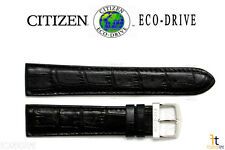 Citizen At0120-02L Eco-Drive Original 20mm Black Leather Watch Band Strap