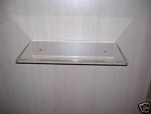 CLEAR ACRYLIC PERSPEX  WALL FIX SHELF CONTEMPORARY