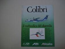 advertising Pubblicità 1986 ATI ATR42 COLIBRI' ALITALIA