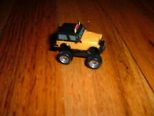 """Mini Plastic YELLOW HUMMER Monster Toy car small Unknown Maker 1"""" collectible"""