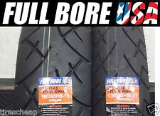 HARLEY TWO TIRE SET 130/80-17  180/65-16  FULL BORE USA MOTORCYCLE TIRES (PAIR)