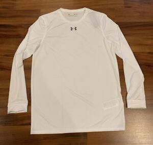 NEW Under Armour UA Men's Long Sleeve Locker Tee White Size Small S 1305776