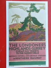 POSTCARD THE LONDONER'S HIGHLANDS - SURREY - CHEAP DAY TICKETS TO THE SURREY HIL