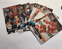 (7) 1991 Pro Set Hockey Singles Messier,Roy, Lemieux,Yzerman,La Fontaine,Roenick