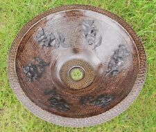 Copper Cone Shaped Vessel Sink w/roses design Exclusive dark Patina