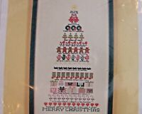 ASTOR PLACE 12 Days of Christmas Tree Counted Thread Cross Stitch Pattern 9 x 17