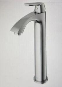 VIGO Linus Single Hole Single-Handle Vessel Bathroom Faucet in Brushed Nickel
